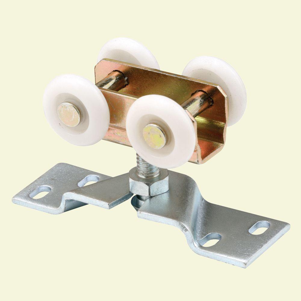Pocket Door Roller and Bracket, Four 1 in. Nylon Wheels