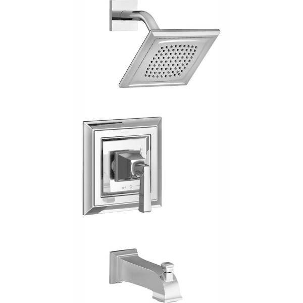 Town Square S Water Saving Tub and Shower Trim Kit for Flash Rough-in Valves in Polished Chrome (Valve Not Included)