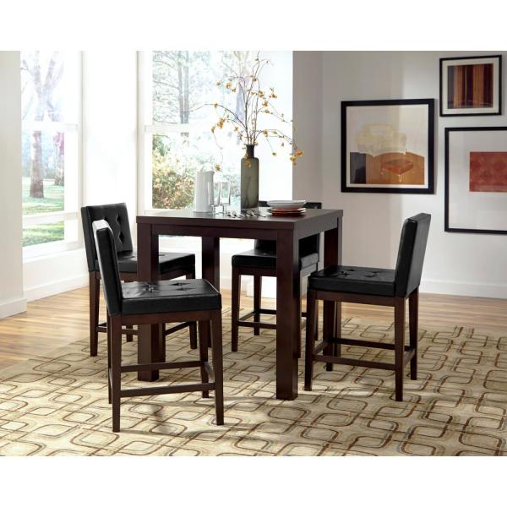 Athena Dark Chocolate Counter Square Dining Table