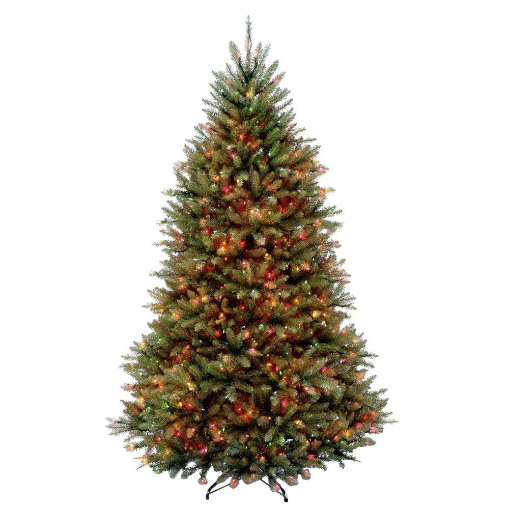Amazing Artificial Christmas Tree With Clear And Colored Lights Part - 2: Dunhill Fir Artificial Christmas Tree With 650 Multi-Color Lights