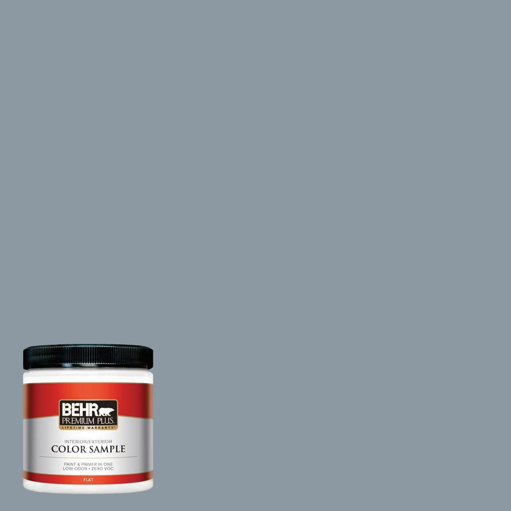N490 4 Teton Blue Flat Interior Exterior Paint And Primer In One Sample