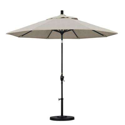 9 ft. Aluminum Push Tilt Patio Umbrella in Granite Olefin