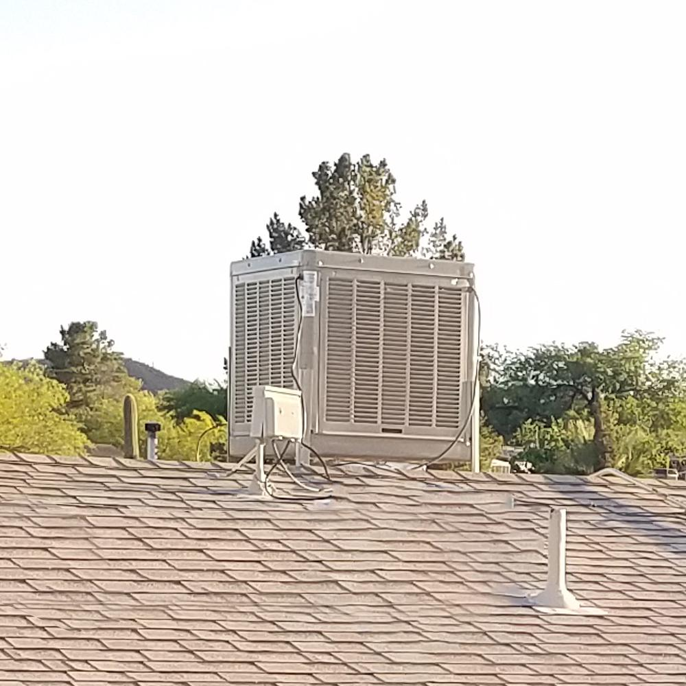 Hessaire 6 800 Cfm Down Draft Aspen Roof Side Evap Cooler Swamp Cooler For 20 In Ducts 2 400 Sq Ft Motor Not Included A68d The Home Depot