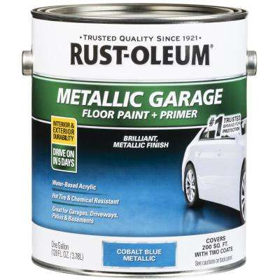 1 Gal. Metallic Cobalt Blue Concrete Floor Interior/Exterior Paint and Primer (2-Pack)