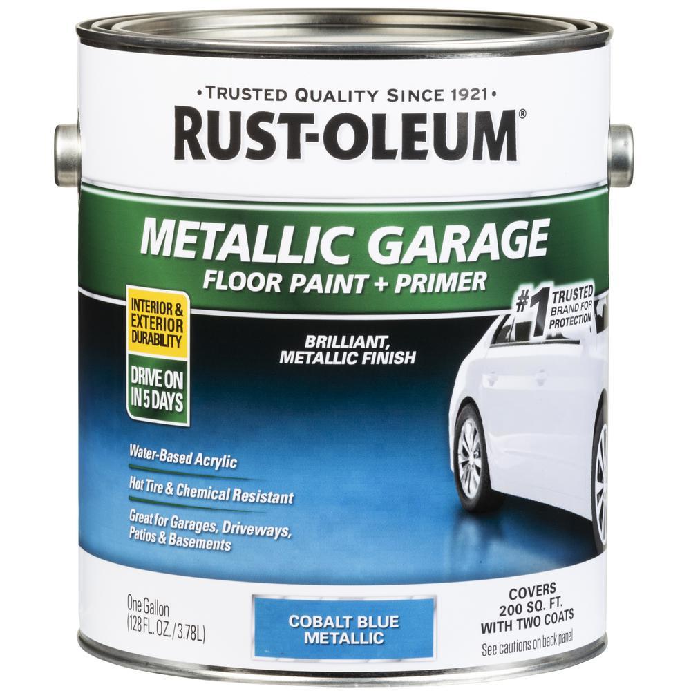 1 Gal. Metallic Cobalt Blue Concrete Floor Interior/Exterior Paint and Primer (2-Pack)