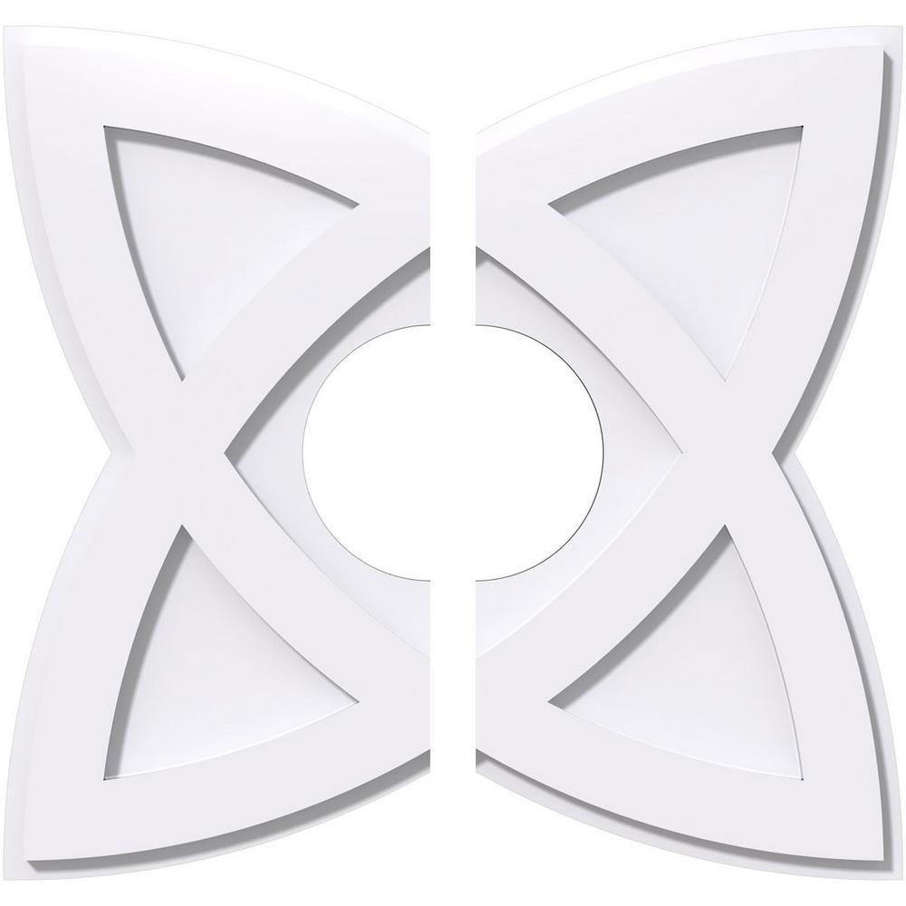 20 in. OD x 6 in. ID x 1 in. P Cosmo Architectural Grade PVC Contemporary Ceiling Medallion (2-Piece)