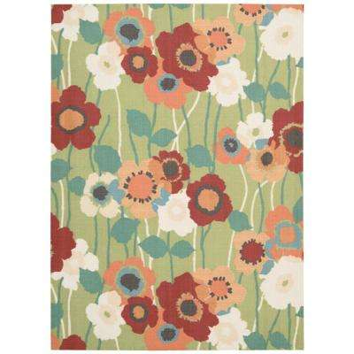 Pic-A-Poppy Seaglass 5 ft. x 7 ft. Indoor/Outdoor Area Rug