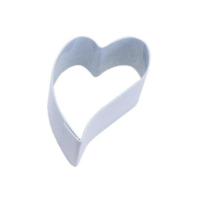 12-Piece Mini Folk Heart White Polyresin Cookie Cutter/Recipe