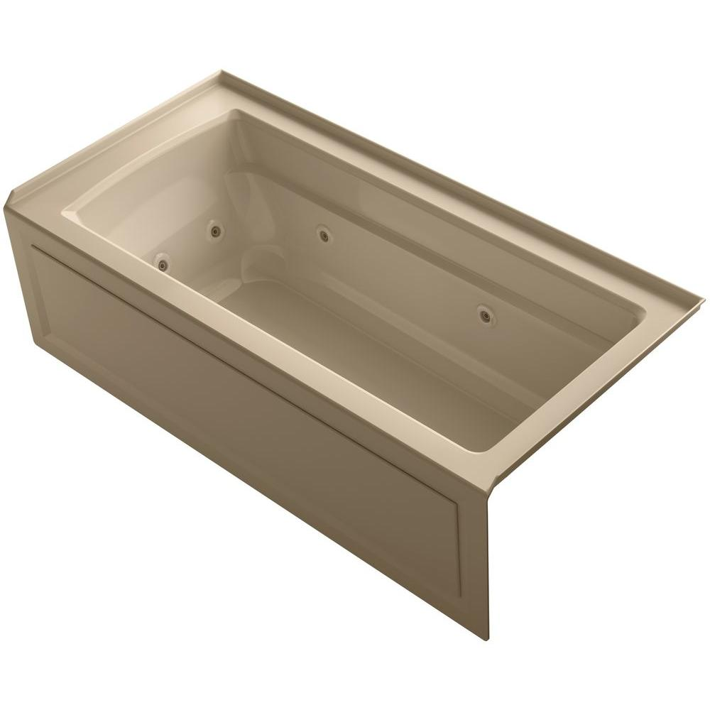 KOHLER Archer 5-1/2 ft. Whirlpool Tub in Mexican Sand