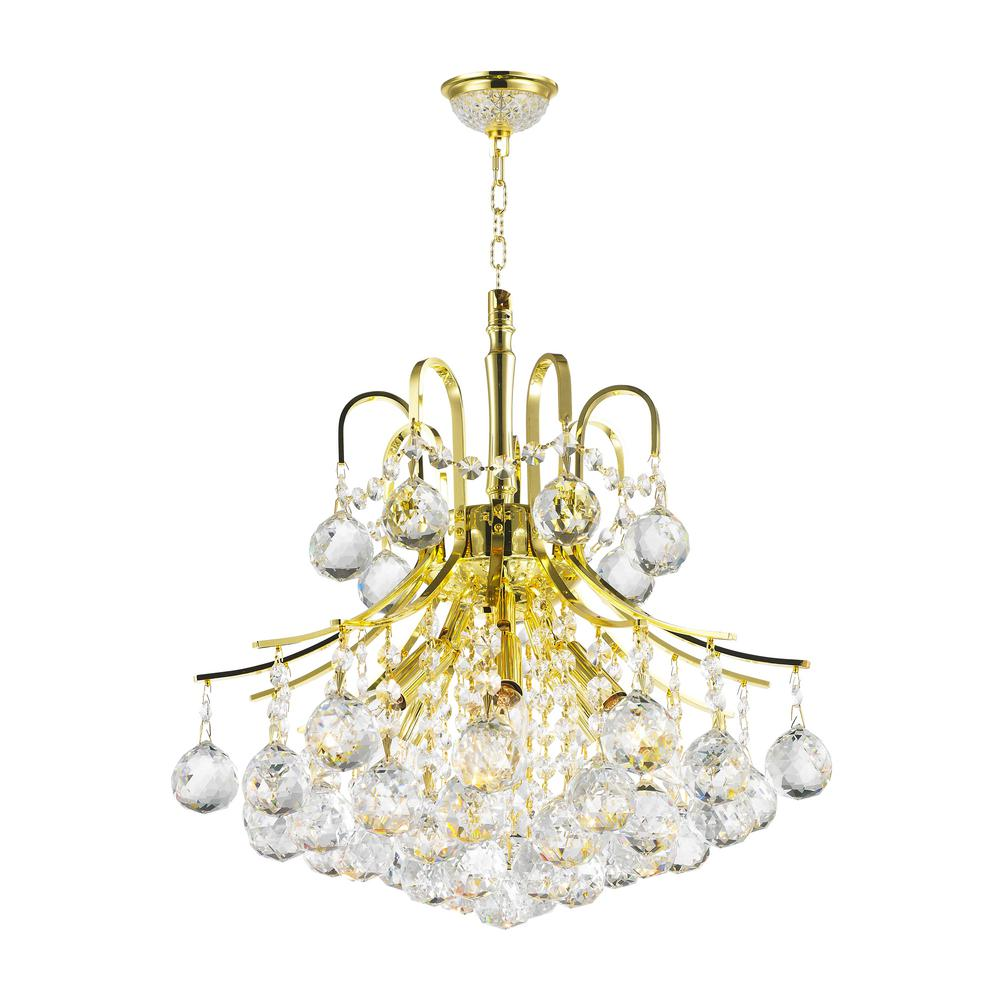 Worldwide Lighting Empire Collection 6-Light Polished Gold and ...