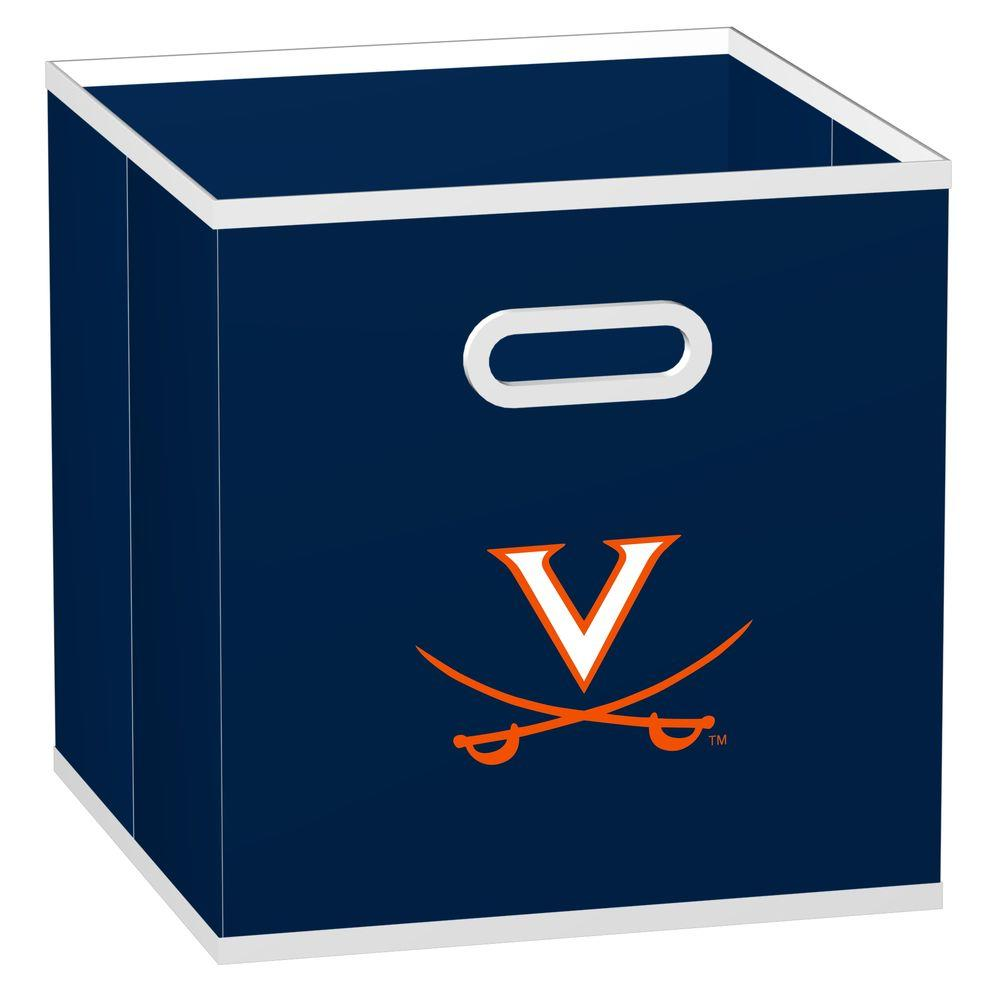 MyOwnersBox College STOREITS University of Virginia 10-1/2 in. W x 10-1/2 in. H x 11 in. D Navy Fabric Storage Drawer