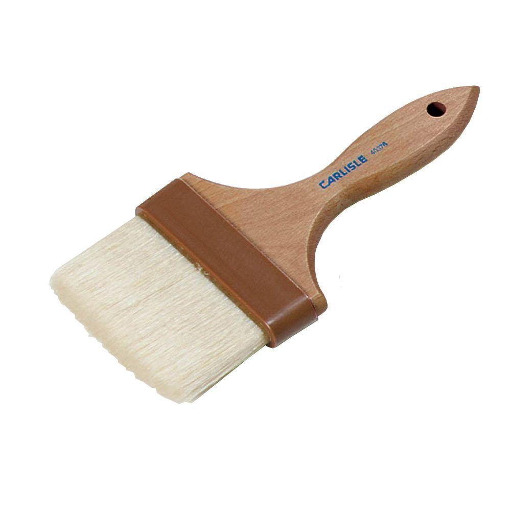 Carlisle 4 inch Flat Wide Boar Basting Scrub Brush (Case of 12) by Carlisle