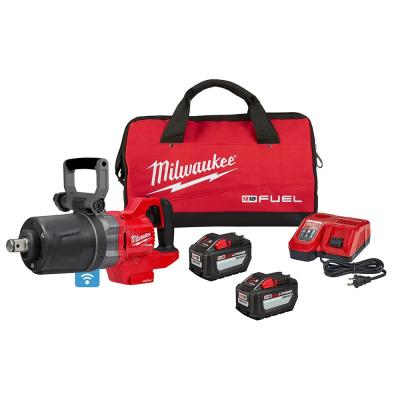 M18 FUEL 18-Volt Lithium-Ion Brushless Cordless 1 in. Impact Wrench with D-Handle Kit with Two 12.0 Ah Batteries