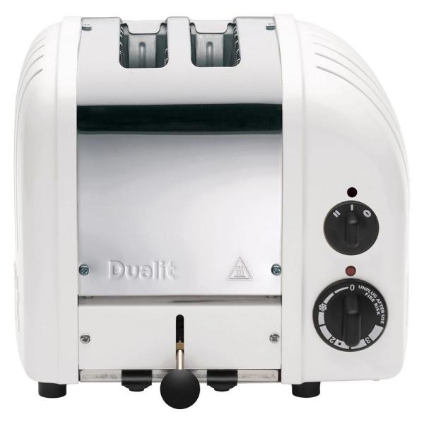 Dualit New Gen 2-Slice White Wide Slot Toaster with Crumb Tray