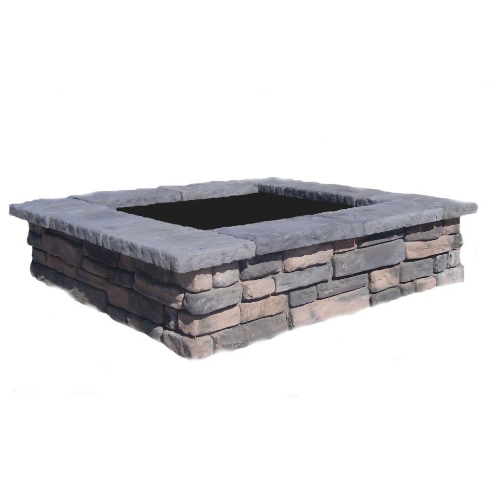 60 in. Random Limestone Square Concrete Planter