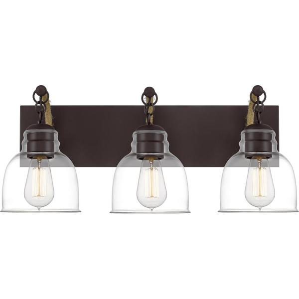 Bosun 3-Light Old Bronze Vanity Light