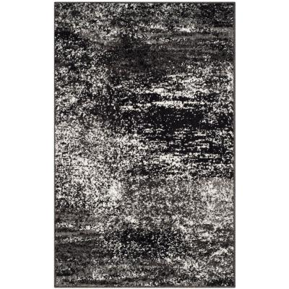 Adirondack Silver/Black 3 ft. x 4 ft. Area Rug