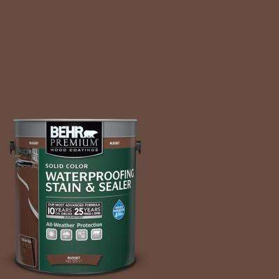 1 gal. #SC-117 Russet Solid Color Waterproofing Exterior Wood Stain and Sealer