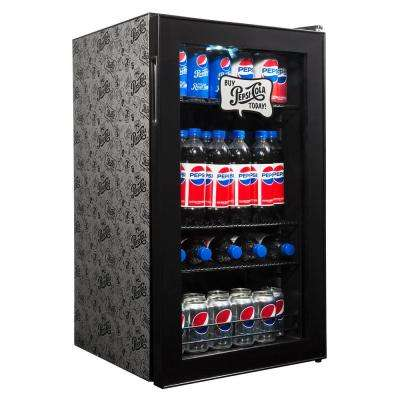 Vintage Edition 19 in. 126 (12 oz.) Can Icy Cold Down to Frosty 34° Freestanding Fridge Beverage Cooler - Pepsi & Pete