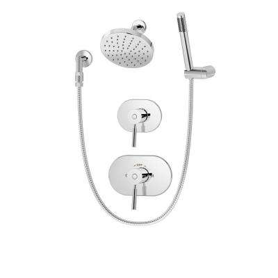 Sereno 1-Spray Hand Shower and Shower Head Combo Kit in Chrome (Valve Included)