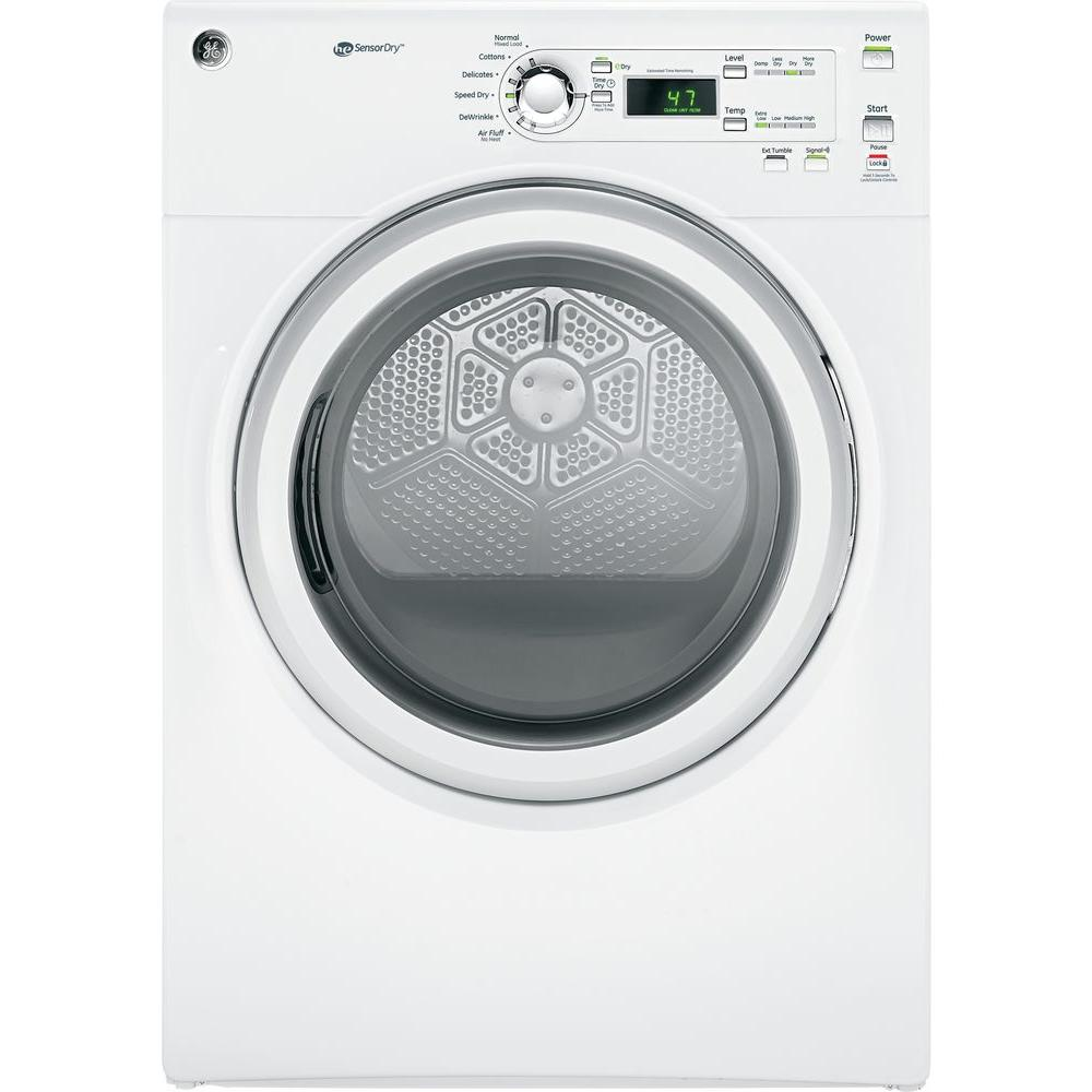 GE Long Vent 7.0 cu. ft. Electric Dryer in White, White On White
