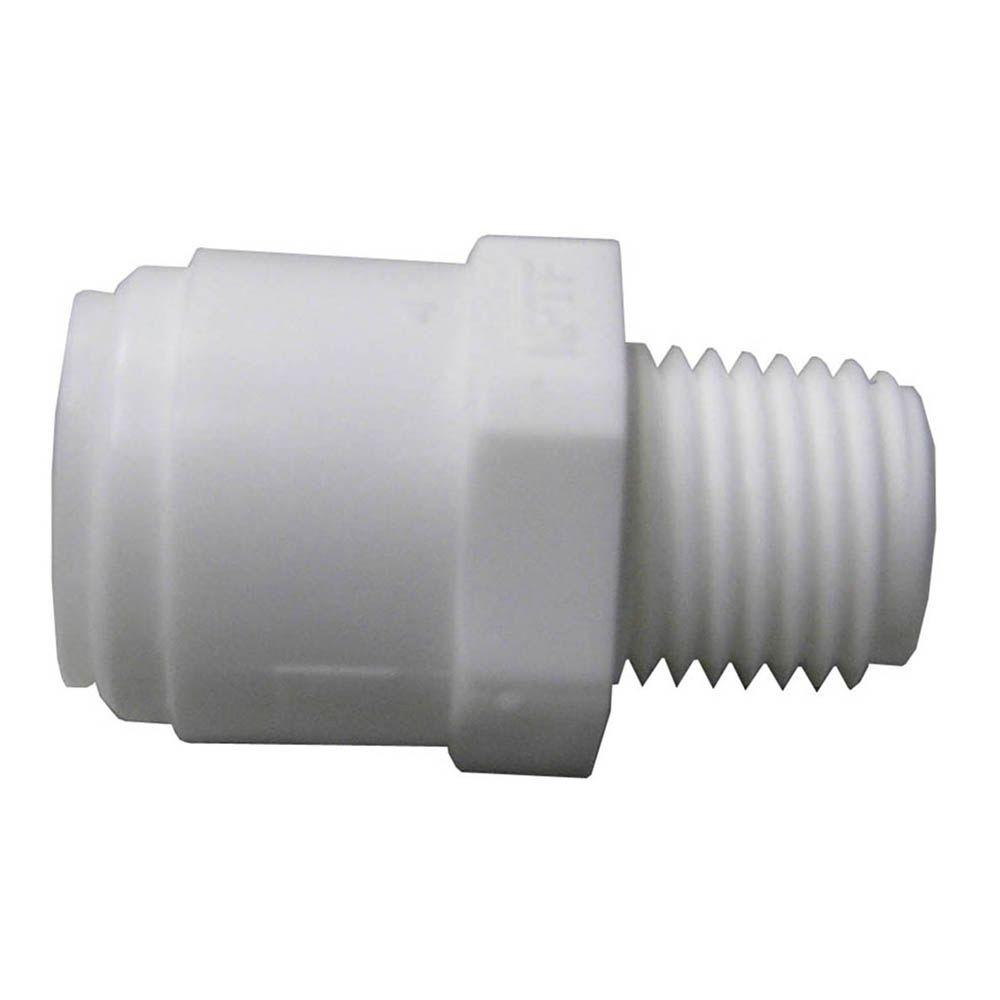 Watts Quick Connect 3/8 in. x 1/4 in. White Plastic C x MIP Adapter