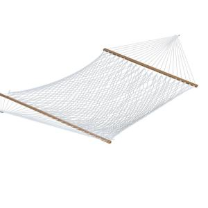 polyester rope double hammock in white algoma 13 ft  cotton rope hammock 4902c   the home depot  rh   homedepot