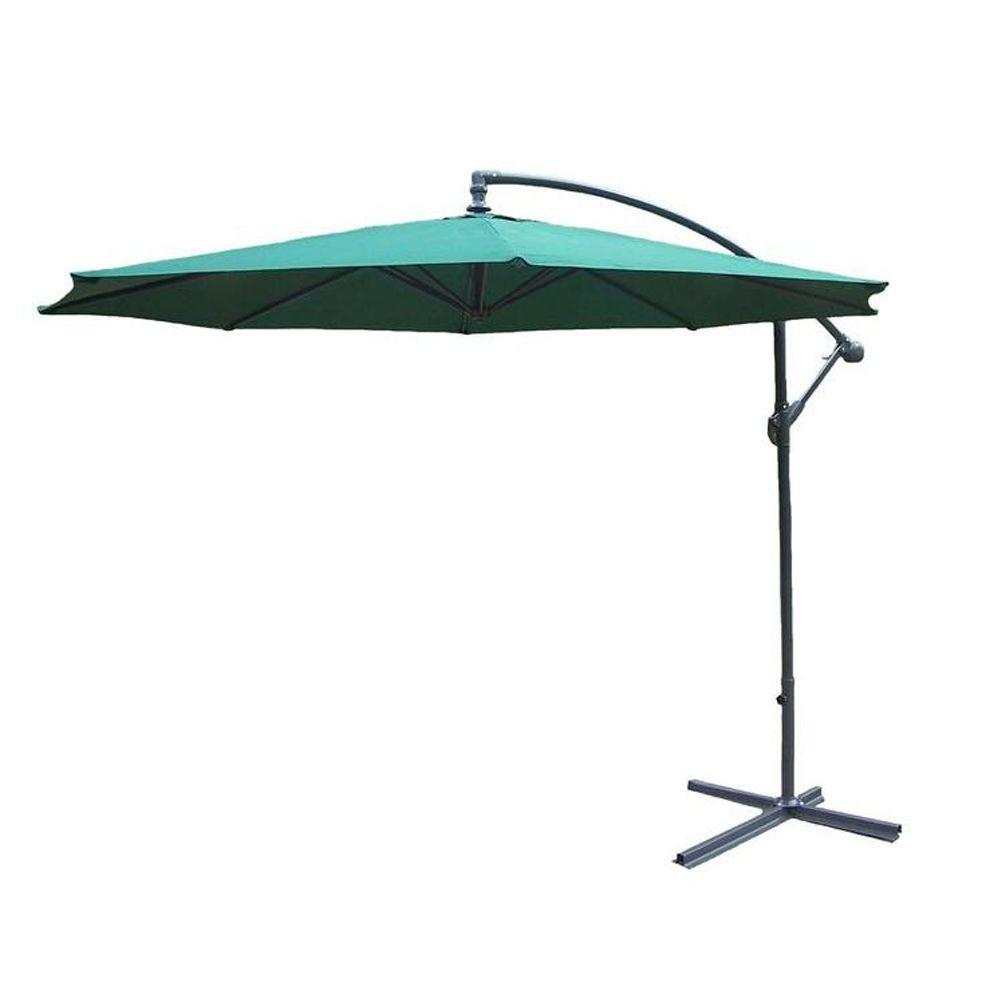 Tiltable Cantilever Patio Umbrella In Green