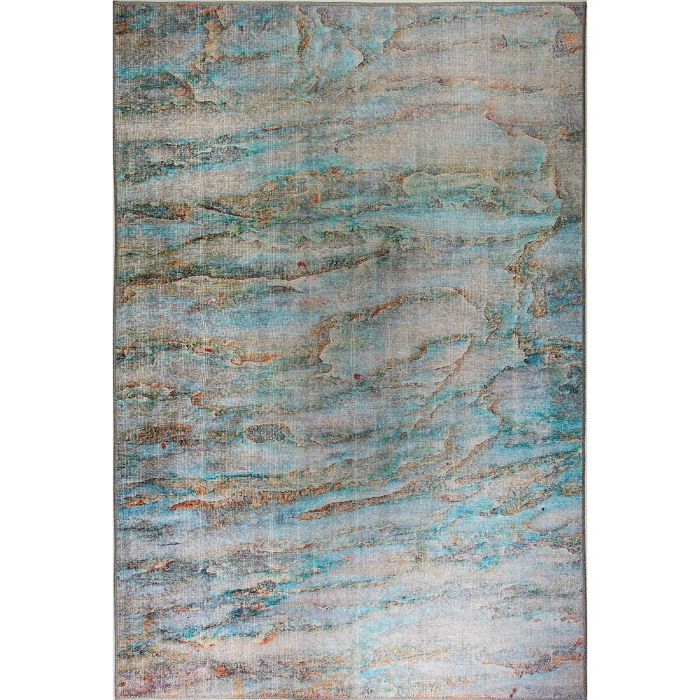 Dynamic Rugs Aura Turquoise Multi 5 Ft X 8 Indoor Area Rug