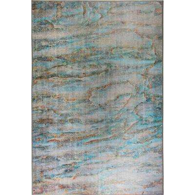 Aura Turquoise/Multi 8 ft. x 11 ft. Indoor Area Rug