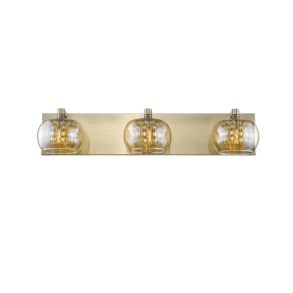 Minerve III 3-Light Antique Bronze 24 in. LED Vanity Light Bar