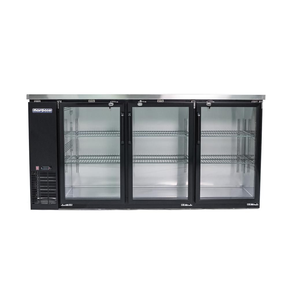 Norpole 72 In 20 Cu Ft 3 Door Under Bar Refrigerator