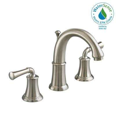 Portsmouth 8 in. Widespread 2-Handle High-Arc Bathroom Faucet in Brushed Nickel
