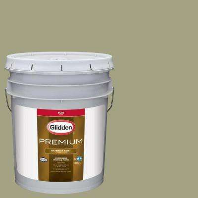5-gal. #HDGG25 Pacific Pines Sage Flat Latex Exterior Paint