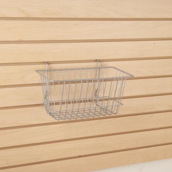12 in. W x 6 in. D x 6 in. H Chrome Narrow Wire Basket (Pack of 6)