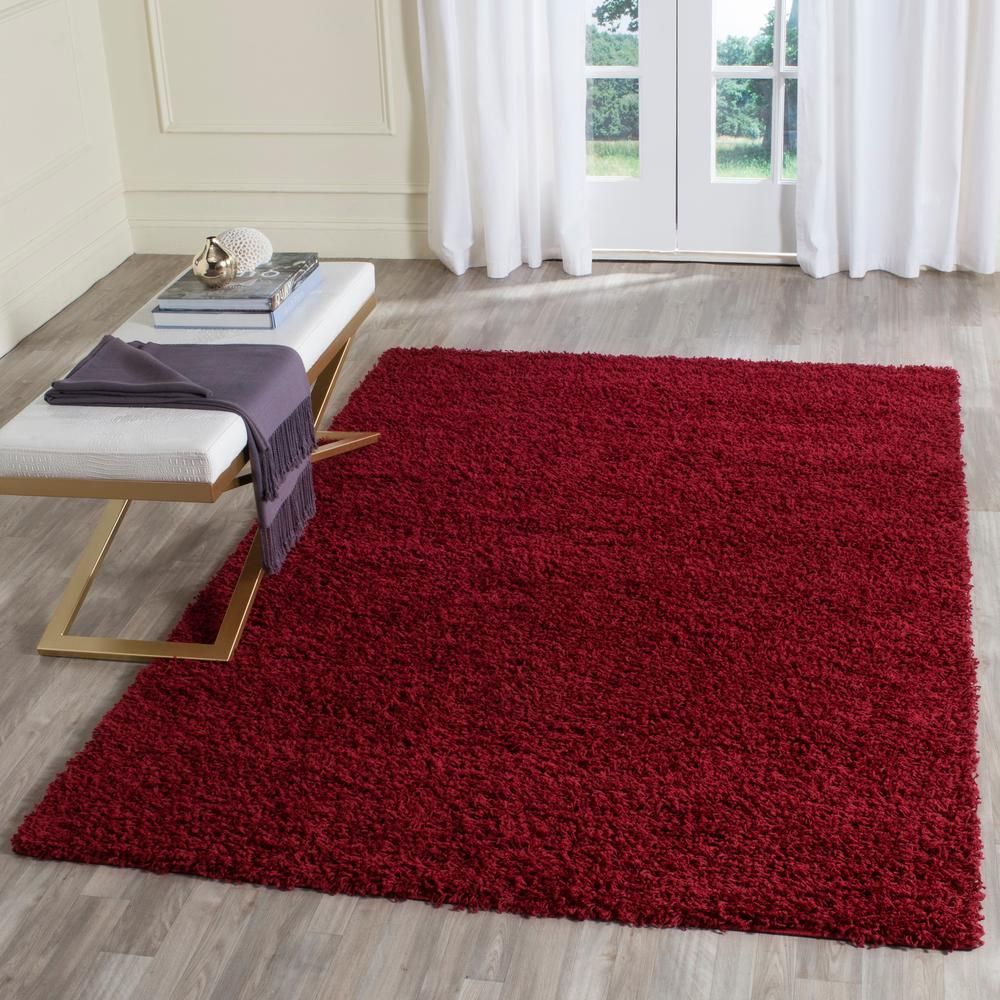 Safavieh Athens Shag Red 8 Ft. X 10 Ft. Area Rug-SGA119R-8