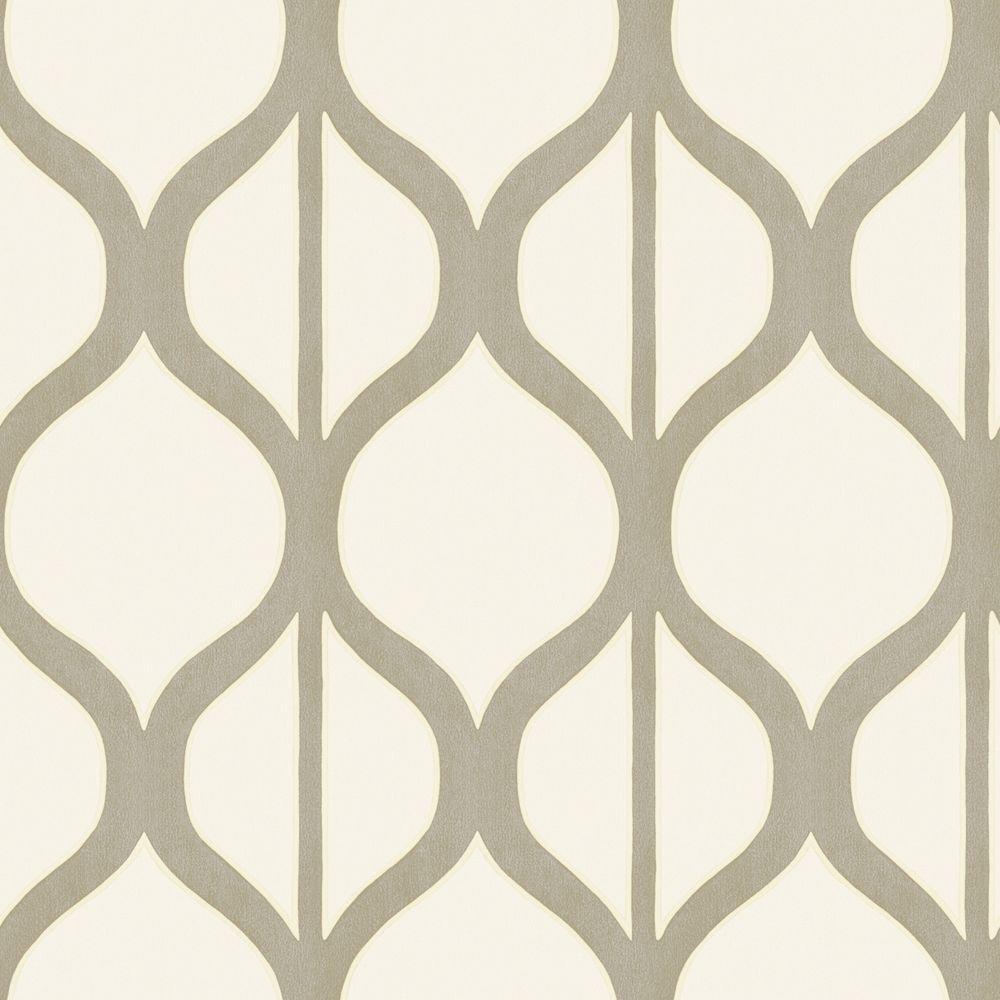 The Wallpaper Company 56 sq. ft. Pearl Modern Geometric Design Wallpaper