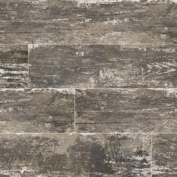 Vintage Silver 8 in. x 36 in. Matte Porcelain Floor and Wall Tile (14 sq. ft. / case)
