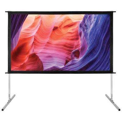 90 in. Stand Alone Indoor/Outdoor Projection Screen with Carrying Bag, Floor Stand, Frame and Hardware