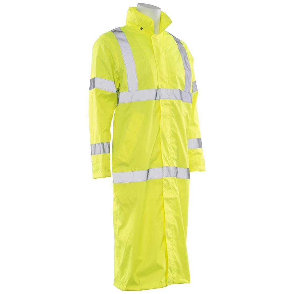 Ergonomics INC S163 4XL HVL Poly Oxford Long Rain Coat, H...