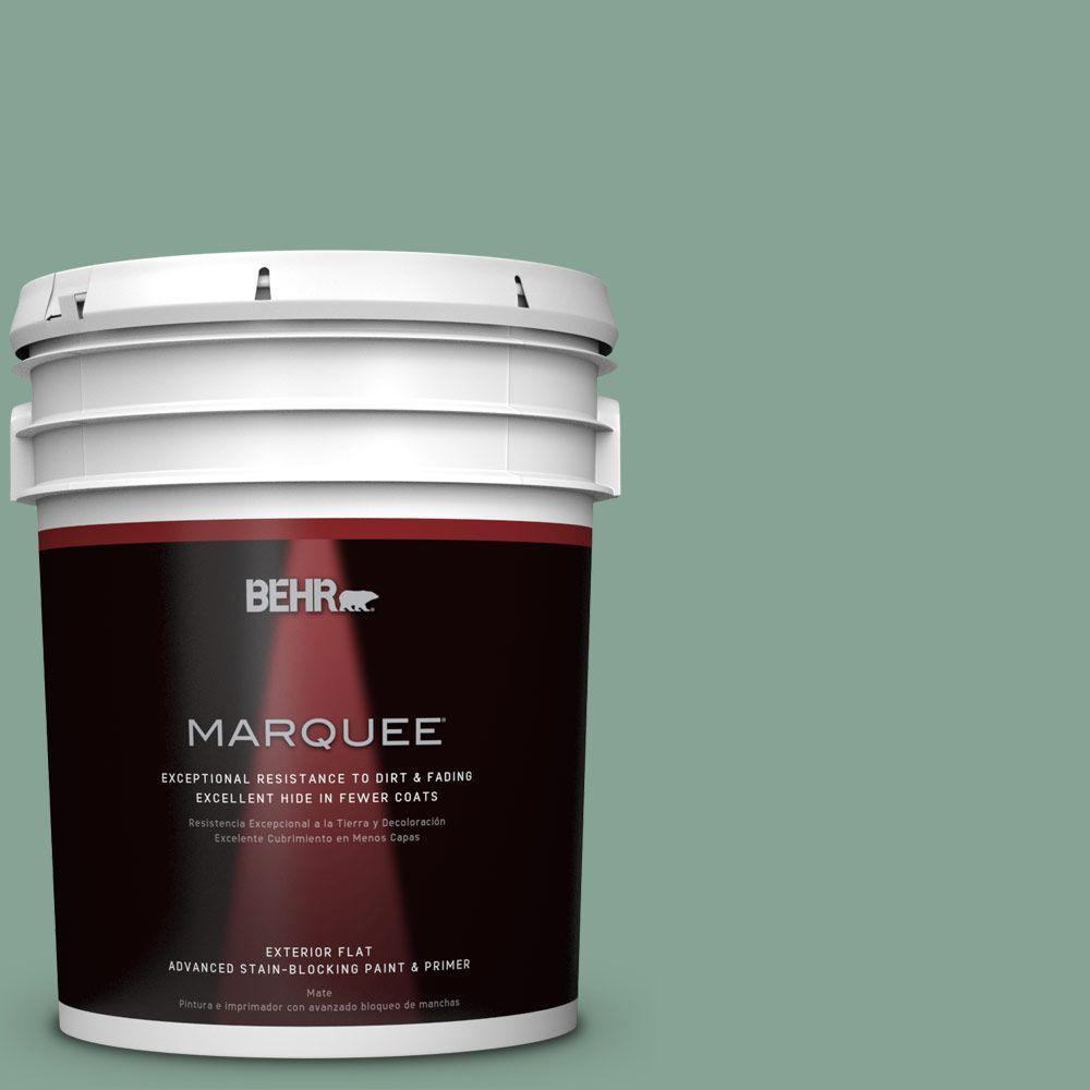 5 gal. #T16-12 Modern Mint Flat/Matte Exterior Paint