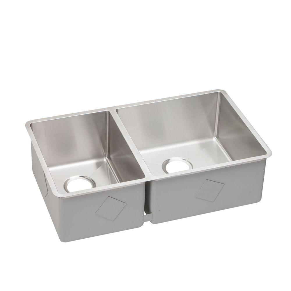 Elkay Crosstown Undermount Stainless Steel 32 In. Double Bowl Kitchen Sink ECTRU32179L    The Home Depot