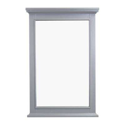 Elite Stamford 24 in. W x 36 in. H Framed Wall Mounted Vanity Bathroom Mirror in Grey