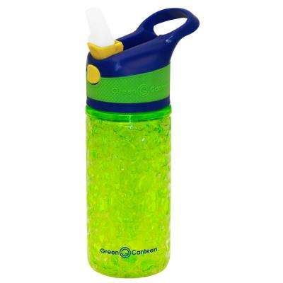 12 oz. Blue and Green Double Wall Plastic Tritan Hydration Bottle with Crackle Freeze Gel (6-Pack)