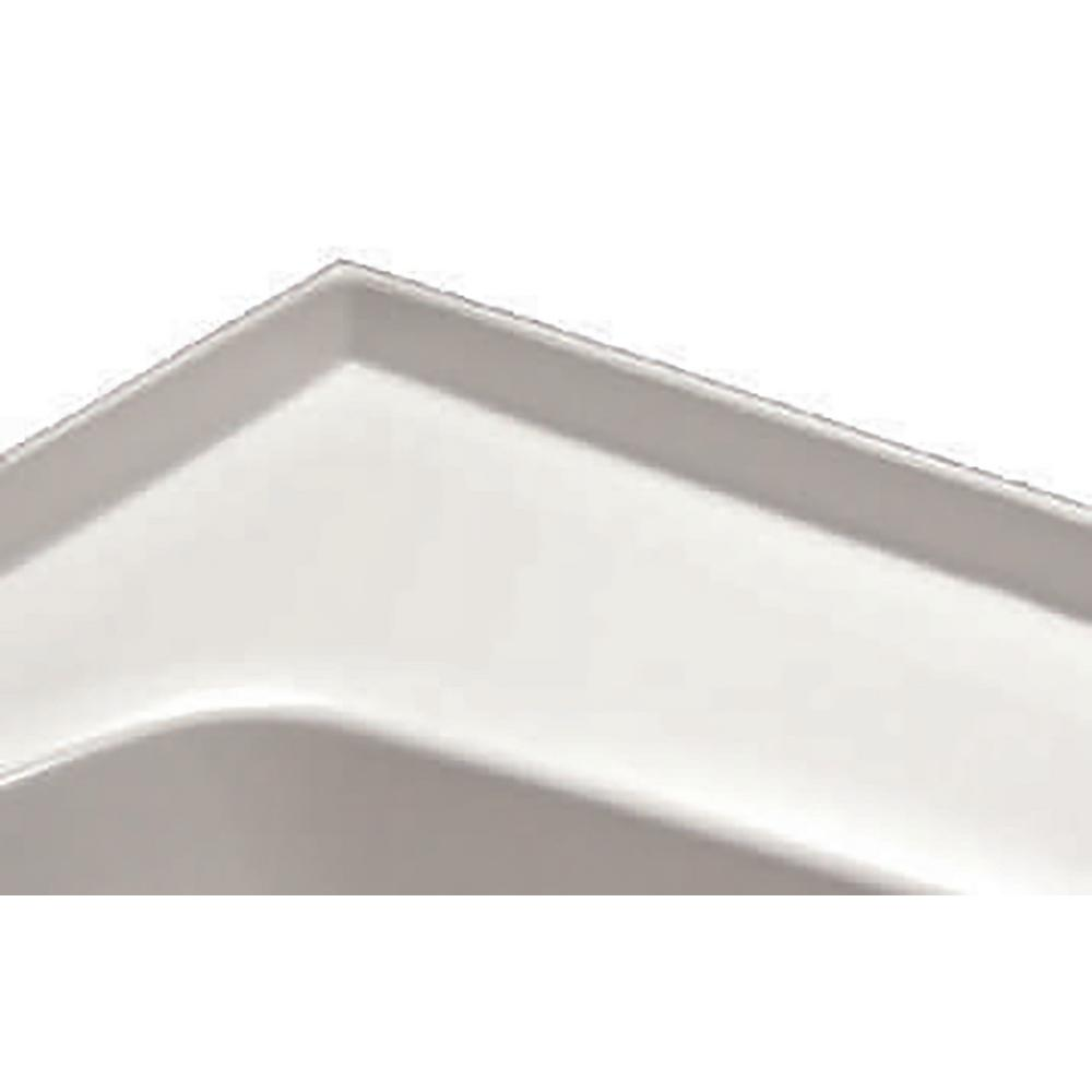 Hydro Systems 1 Side Integral Tile Flange In White Fla Mo 1 Whi The Home Depot