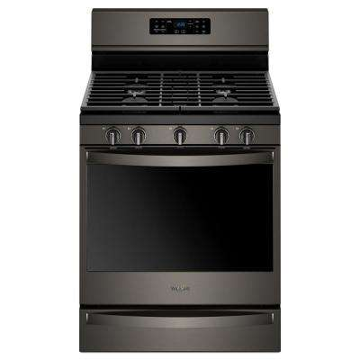 5.8 cu. ft. Gas Freestanding Range in Black Stainless