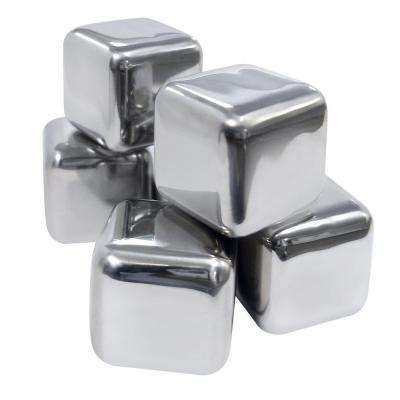 Stainless Ice Cubes (Set of 6)