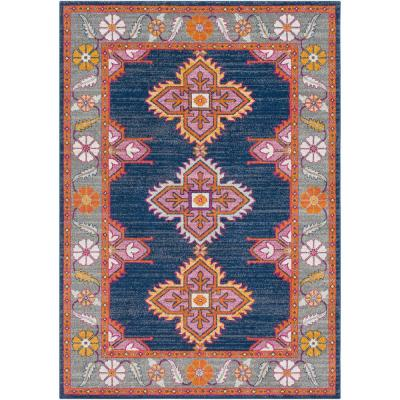 Agnetha Dark Blue 2 ft. x 3 ft. Area Rug
