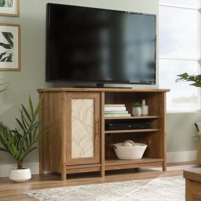 Coral Cape 42 in. Sindoori Mango Wood TV Stand Fits TVs Up to 42 in. with Storage Doors