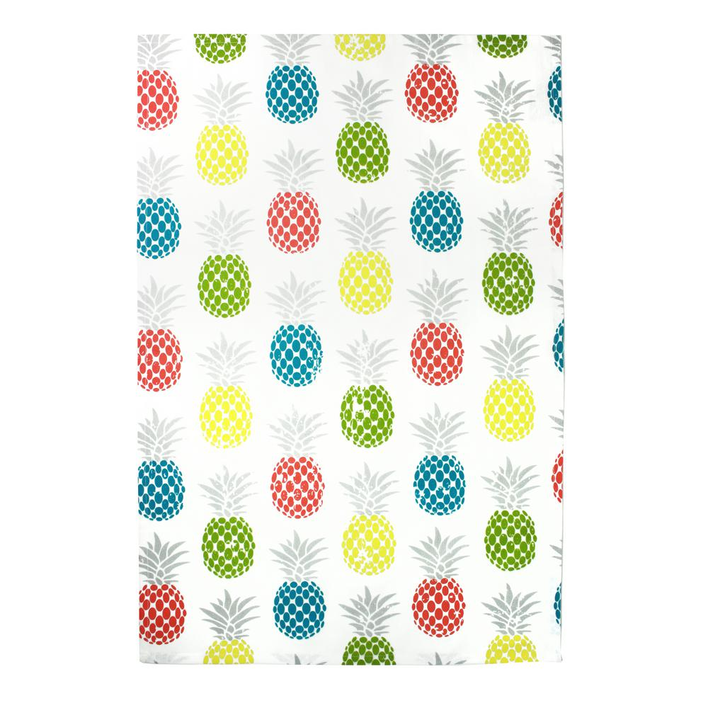 Designer Print Multi Towels Pineapple Medley Cotton Kitchen Towels (Set of